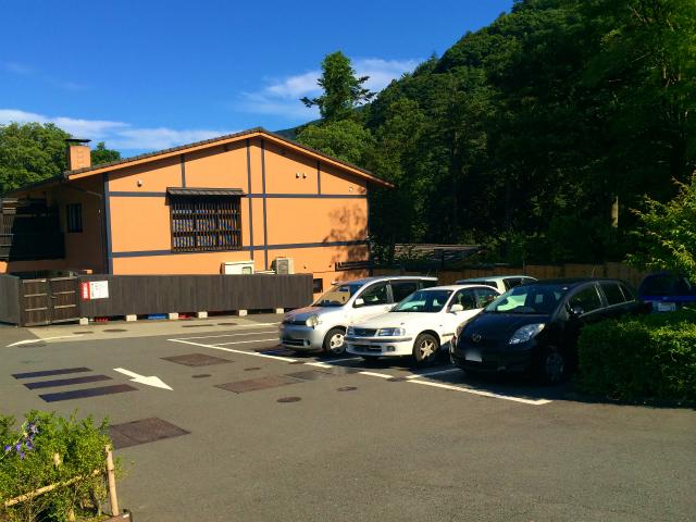 箱根湯寮の駐車場