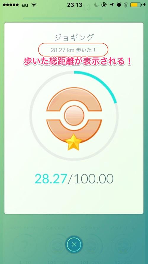 【ポケモンGO】プレイ中に散歩した距離を調べる方法