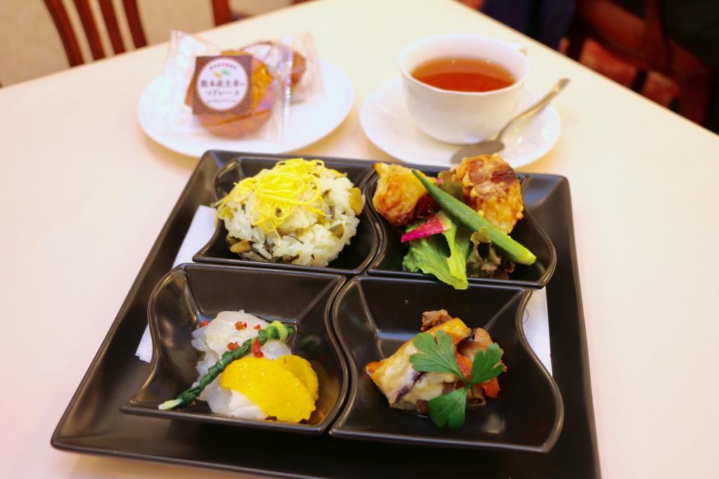 熊本御膳と熊本産生姜のマドレーヌ