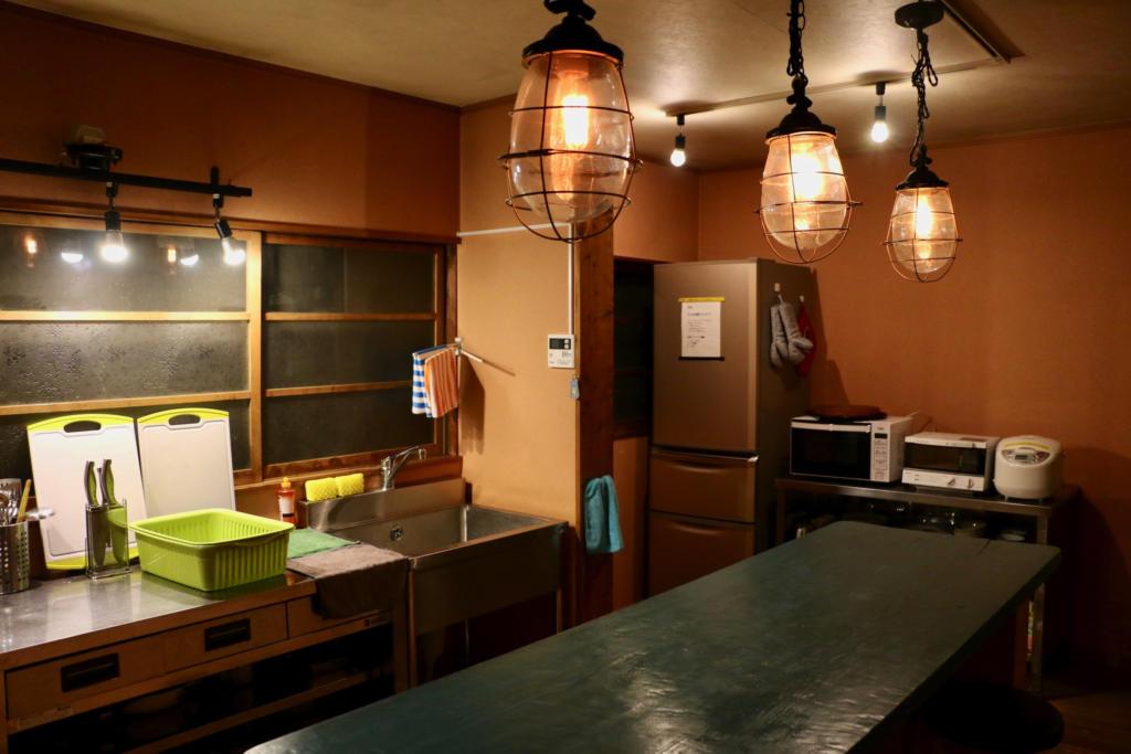 コテージフラミンゴの台所