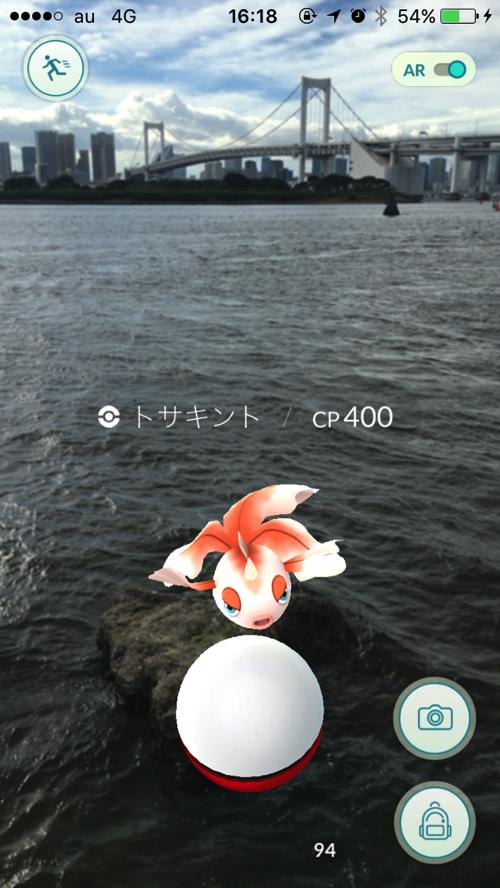 海を泳ぐトサキント
