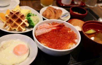 ドーミーインPREMIUM小樽の朝食いくら丼