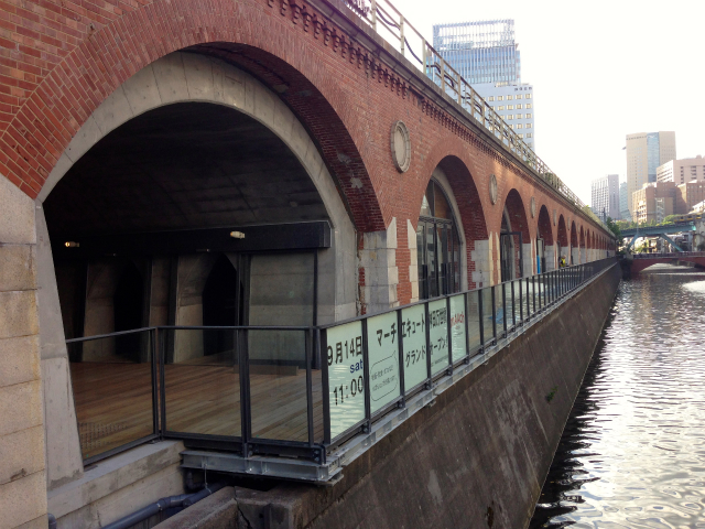 The ruins of the former Mansebashi station are back! maAch Marche Cute Kanda Mansei Bridge Opening soon