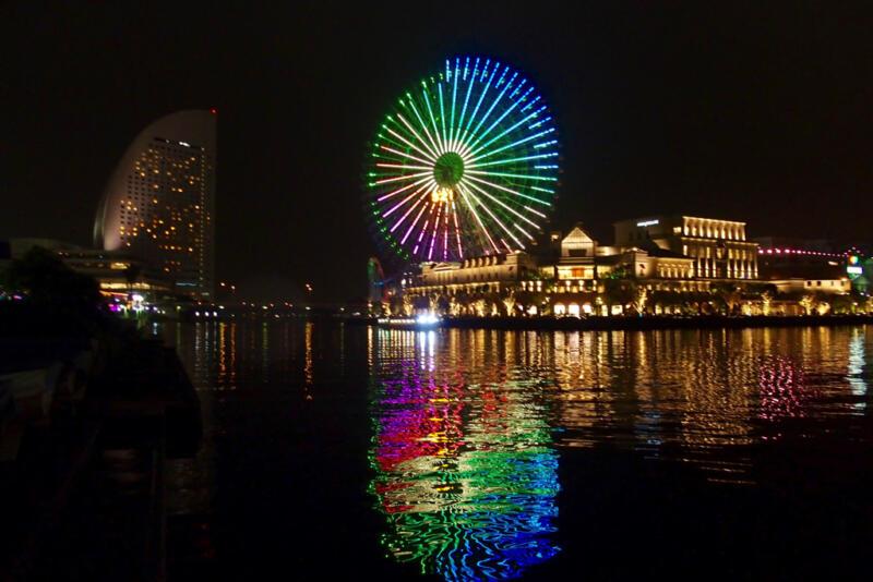 【夜さんぽ】横浜みらとみらいのライトアップを見るなら小雨くらいがちょうどいい