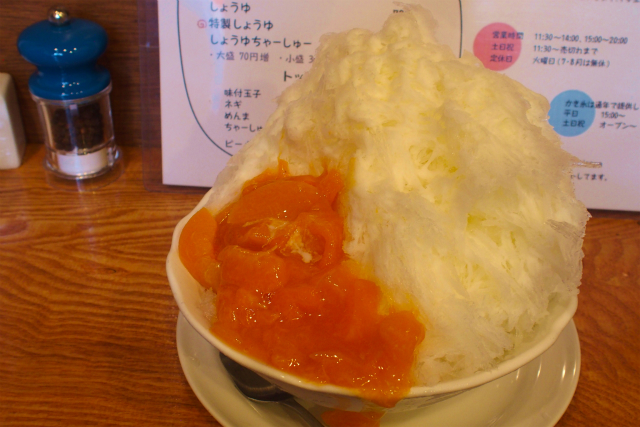 "[Suginami ward Ogikubo] Shaved ice from ""Ramen Neiroya"" is too serious"