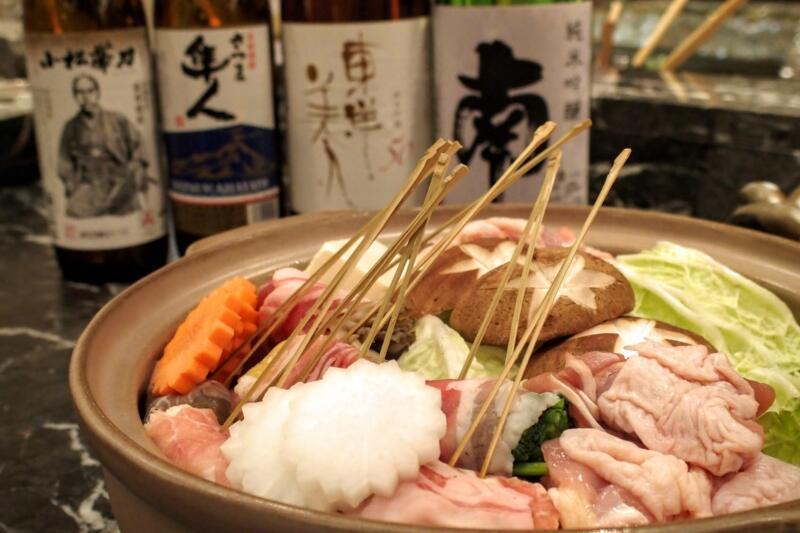 ホテル龍名館東京 花ごよみ東京で薩長両藩の地酒と「しゃぶ炊き」を楽しめる「薩長同盟フェア」が開催