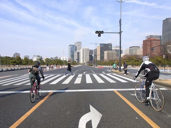 内堀通りをサイクリングできる「パレスサイクル」
