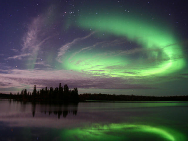 It's summer if you look at the aurora! Canadian Tourism Bureau blogger meeting