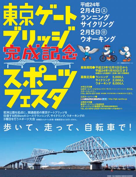 「東京ゲートブリッジ完成記念スポーツフェスタ」イベント詳細がわかりました