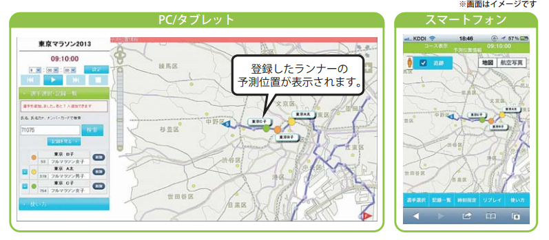 東京マラソン2017の応援ナビとランナーアップデートが2/26にサービス開始